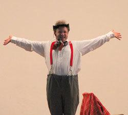 Ein toller Clown in Bad Urach. Clown Zappo ist der dummen August wie ihn Kinder lieben.