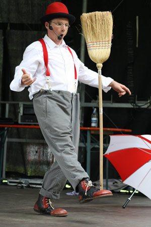 Clown Zappo in Konstanz bei KIndergeburtstag