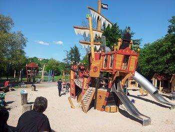 Der Piratenspielplatz beim Anlagensee