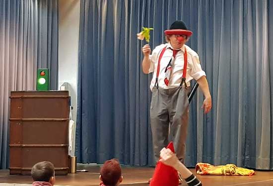 Clown in Wernau und Plochingen